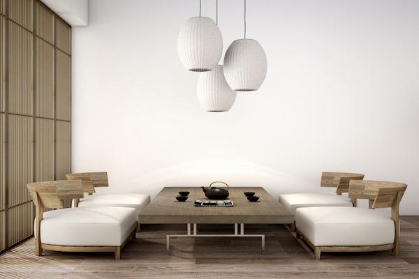 Muebles de salón estilo japonés