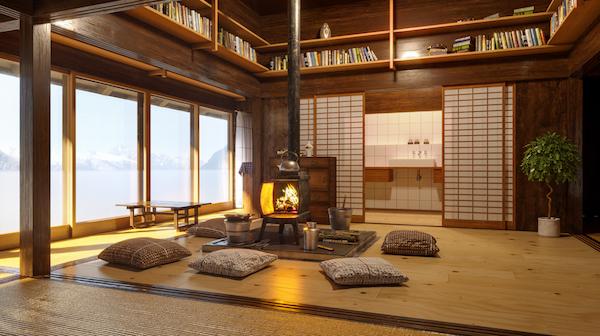decoración de ambiente Zen
